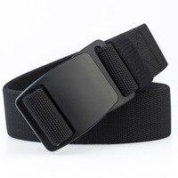 Táctica de los hombres cinturón elástico negro, hebilla de plástico militar del ejército ajustable cinturilla para exteriores de cierre de plástico de ocio Cinturones azul