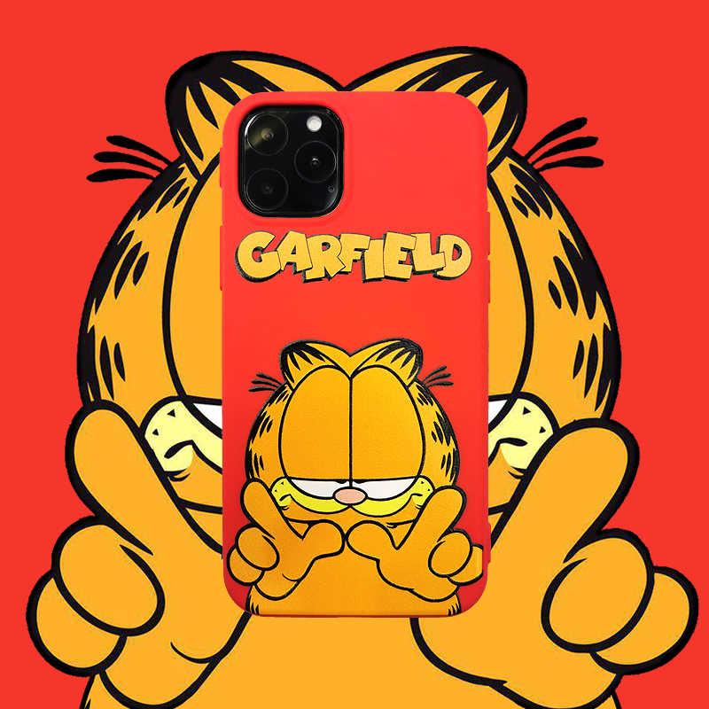 Cartoon Garfield znanej marki kolorowe dla iPhone11 Xs MAX Xr X 6 6s 7 8 plus miękkie etui tpu na tył telefonu