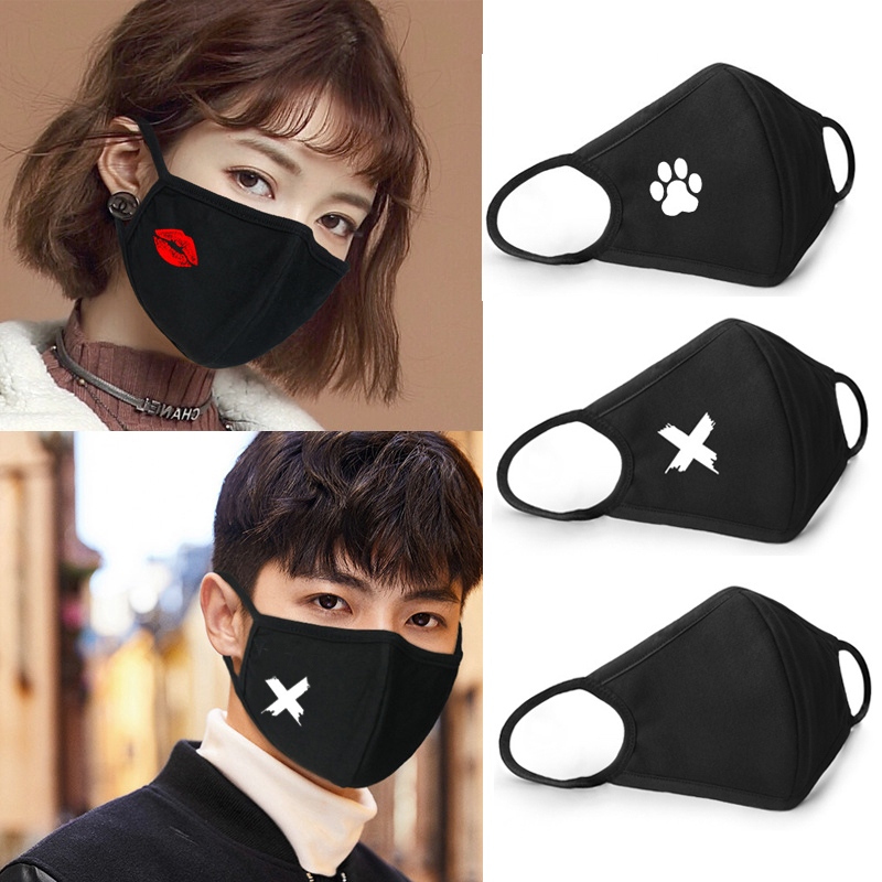 1pcs Cotton Mouth Face Mask Anime Cartoon Personality 3D Winter Breathable Masks Men Women Dustproof Earloop Mouth Cover Unisex