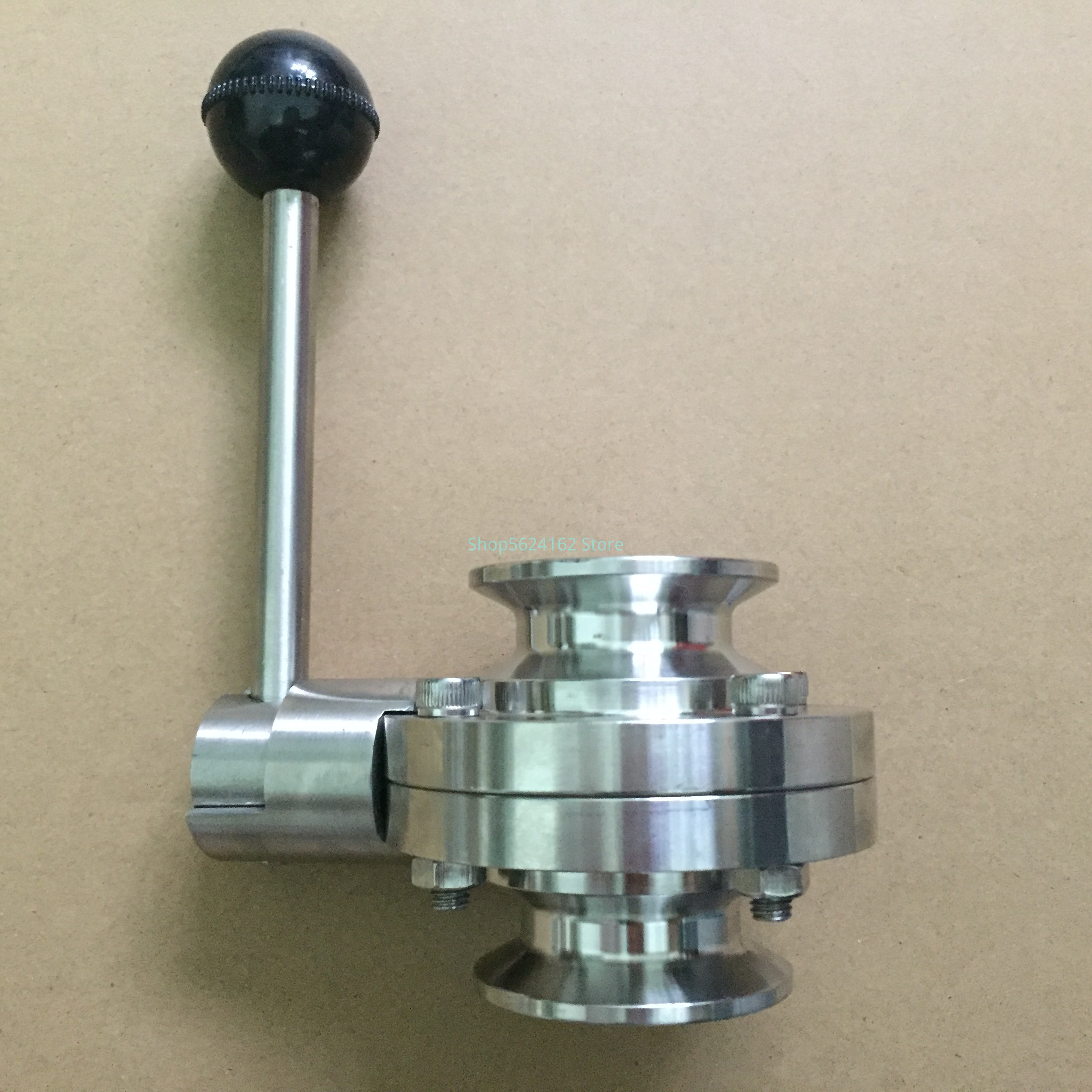 """Sanitary Tri Clamp Butterfly Valve SS304 Stainless Steel  3/4"""" 1"""" 1.5"""" 2"""" Butterfly Valve"""