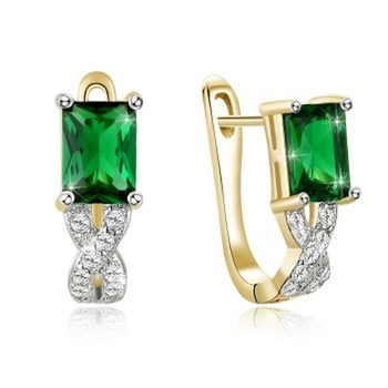 Fashion green jewelry sterling silver studs sakura earrings earrings for women 2021 fashion jewelry earrings cute image