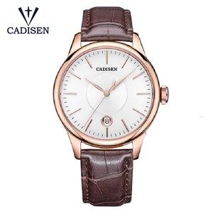 Image 1 - CADISEN 2019 יוקרה גברים של אוטומטי שעון עור מכאני שעון צבאי עסקי פנאי עסקים עמיד למים לוח שנה גברי