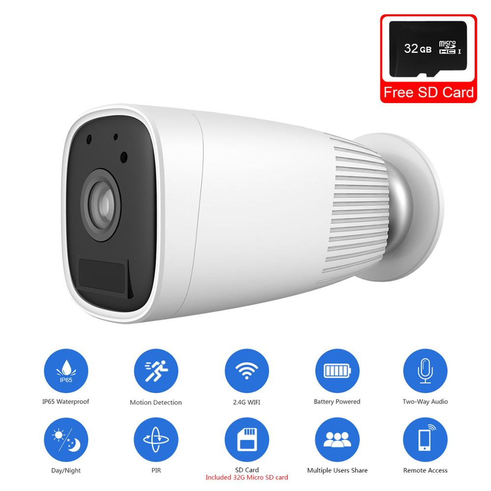 WIFI Motion Detection Rechargeable 1080P HD Wireless IP Security Camera Battery
