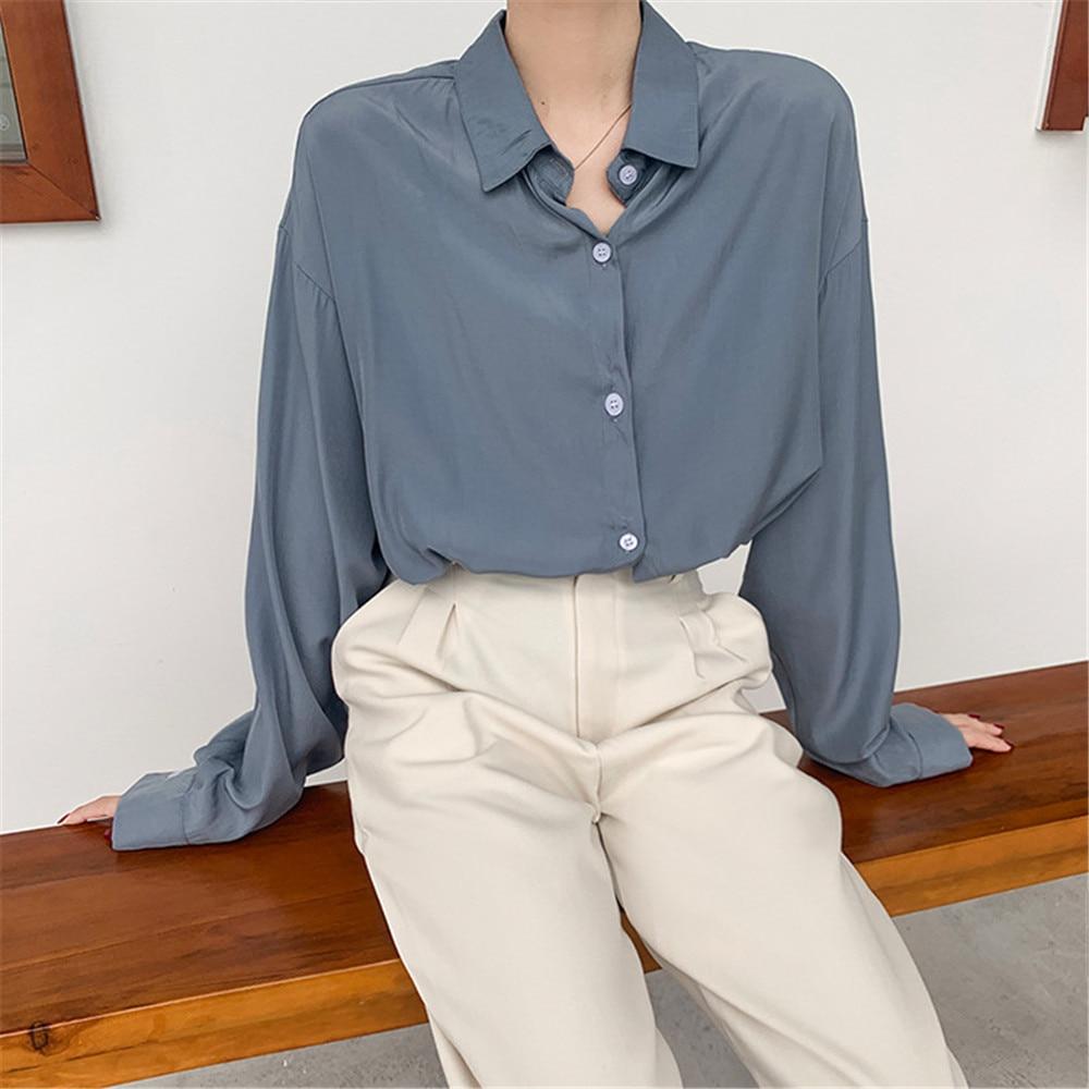 Spring Women Blouse 2020 Summer Blouse Korean Long Sleeve Womens Tops Blouses Vintage Woman Shirts Blusas Roupa Feminina Tops (16)