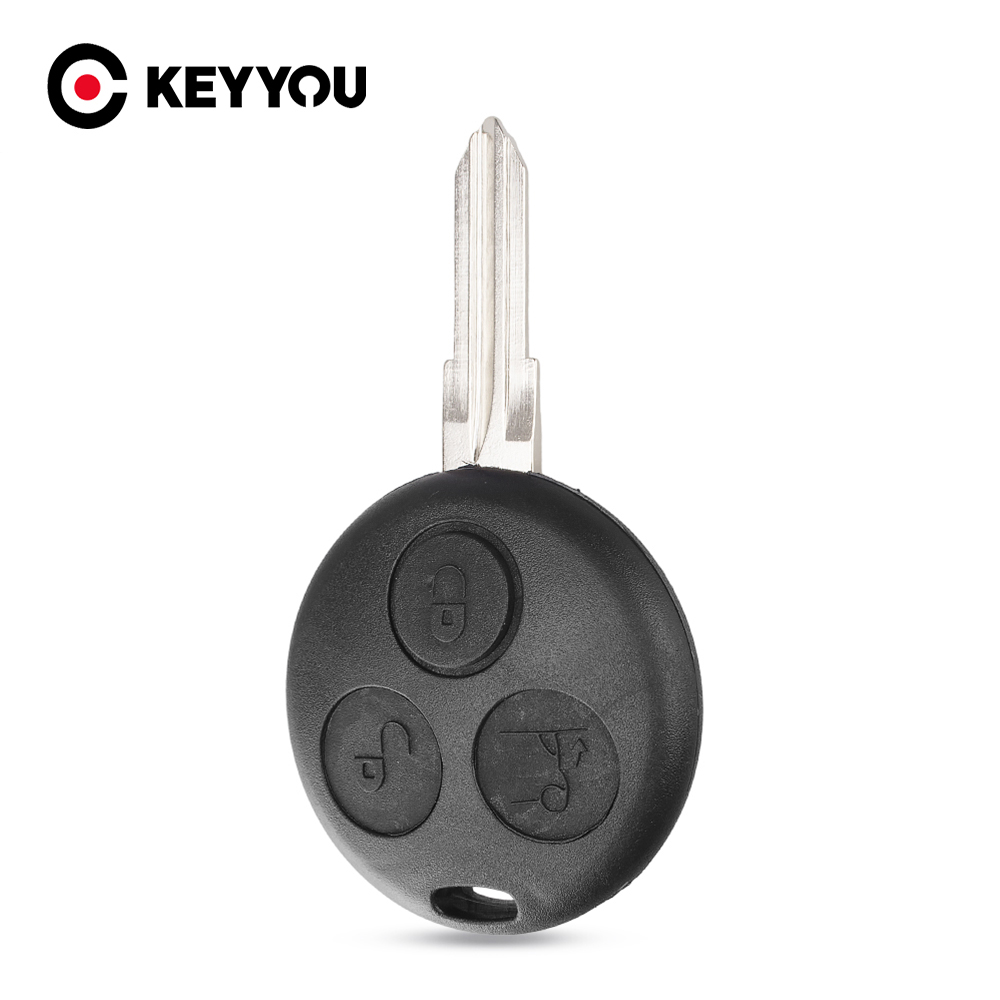 KEYYOU 10X Remote Car Key Shell Key Case Fob For Mercedes Benz Key <font><b>Smart</b></font> <font><b>Fortwo</b></font> <font><b>450</b></font> Forfour Roadster Chiave 3 Button image