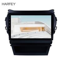 Harfey 2Din Car GPS Multimedia Player Radio For 2013 2014 2015 2016 2017 Hyundai IX45 SantaFe 9 Android 9.0/8.1 Head Unit