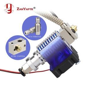 Haute tout en métal v6 hotend 12 V/24 V télécommande Bowen print j-head Hotend et support de ventilateur de refroidissement pour E3D HOTEND pour PT100