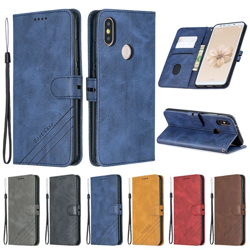 Кожаный чехол-книжка для Xiaomi Mi A2, чехол для Xiaomi mi A2 A1 A3 lite, чехол для телефона, чехлы, Магнитный чехол-бумажник