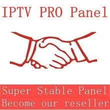Panel de Control IPTV con créditos para la gestión del distribuidor 10000 +