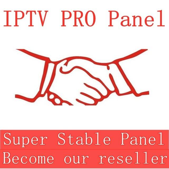 Panneau de configuration IPTV avec crédits pour la gestion des revendeurs 10000 +