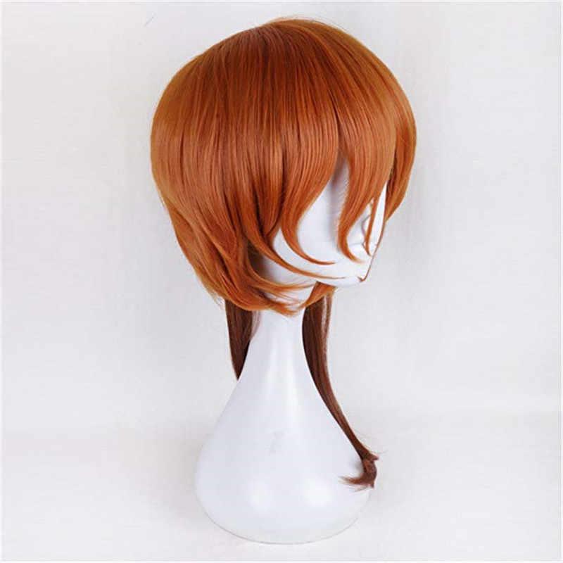 Anime Bungo Anjing Liar Cosplay Chuya Nakahara Chuuya Wig Panjang 50 Cm Rambut Halloween Pesta Kostum Wig + Wig Topi