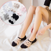 Short Socks Low-Ankle Invisible Girls 1pair Cotton Summer Women New Wear Spring Solid