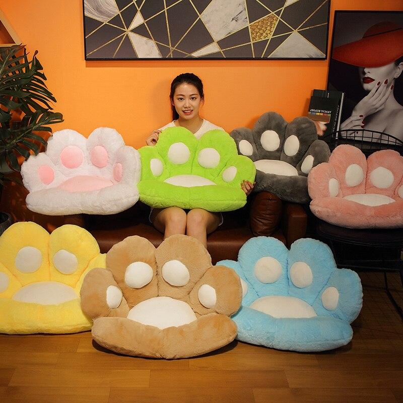 1 шт. 2 размеры Мягкая Лапа Подушка сиденье животных подушки плюша диван закрытый Чулочные изделия для дома, стула, зима, для детей, для девочек, подарок 4