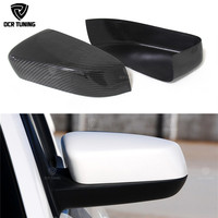 Rear Mirror Caps For Ford Mustang 2008 2009 2010 2011 2012 2013 Add On Style Carbon Fiber Rear View Mirror Cover Black Finish