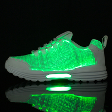 Size46 Waterproof Running Shoes Luminous Sport Fiber Optic for Couple LED 7 Colors USB Rechargeable Sneakers with Light 12