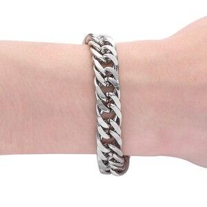 Image 4 - Fiets Ketting Buddha Polsband Mode Nieuwe Link Chain Roestvrij Stalen Armband Vrouwen Zware 12MM Wide Mens Boeddha Bangle ZTB423 4