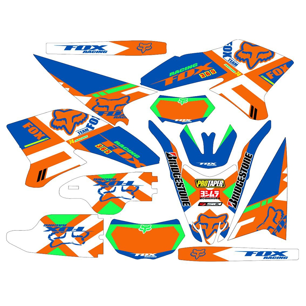 New Full Graphics Decals Stickers Custom Number Name 3M Matte Stickers Waterproof For YAMAHA WR250R 2008