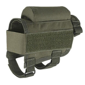 tactical buttstock shotgun rifle stock ammo portable pouch shell cartridge holder pouch holder cheek leather pad Tactical Rifle Cases Cheek Rest Riser Ammo Cartridges Hunting Carrier Canvas Pouch Round Cartridge Bag Shell Buttstock Ammo