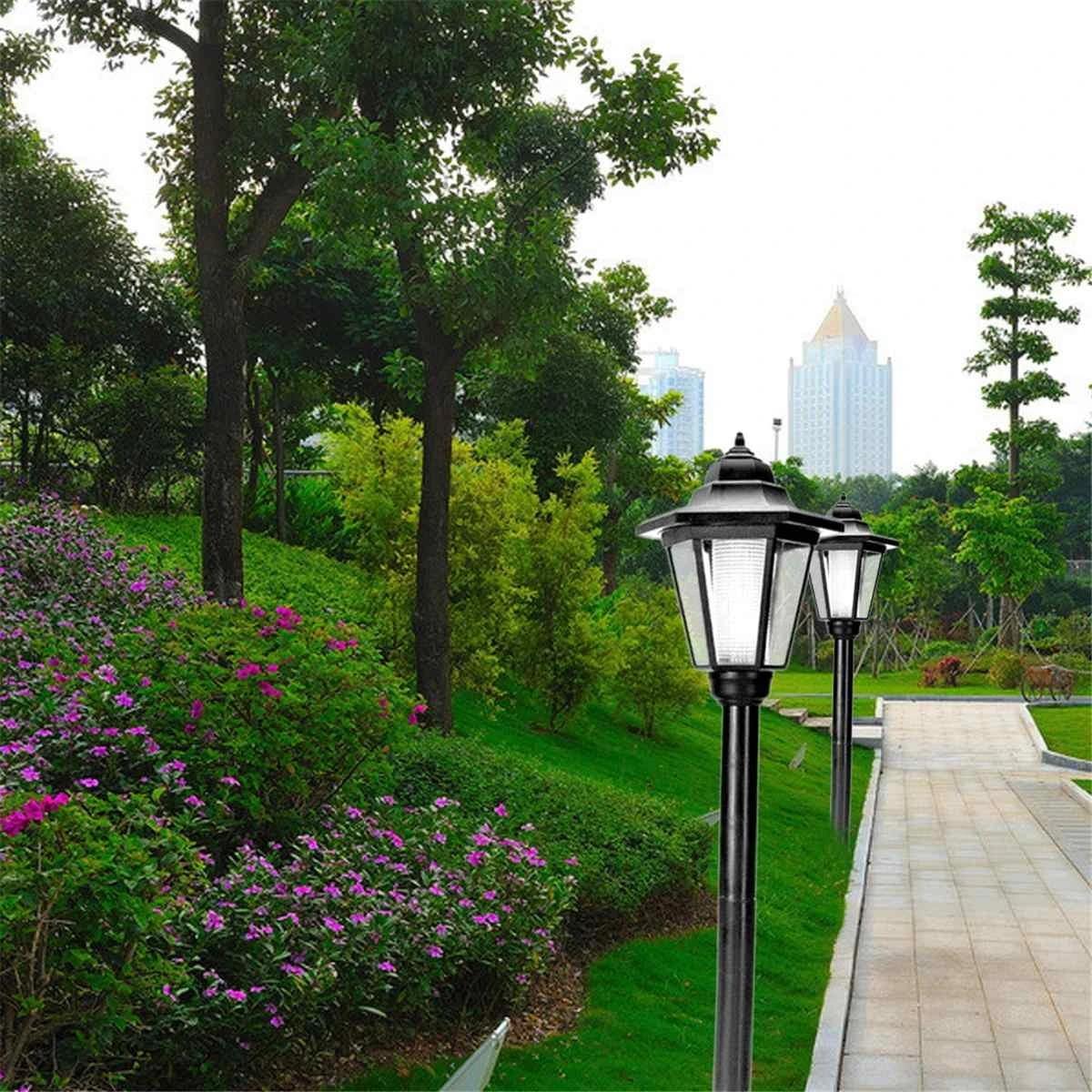 Taman Dekorasi Lampu Halaman Lampu Taman Outdoor Lentera Pilar Halaman Putih Lampu Led Solar Light Di Bawah Tanah Rumput Lampu Aliexpress