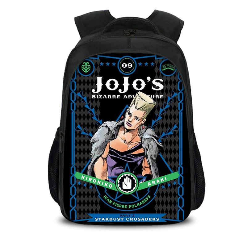 Dio JoJo Bizarre Adventure School Backpack for Boys Girls Laptop Bag Sports Traveling Daypack 16.512.65.5 in
