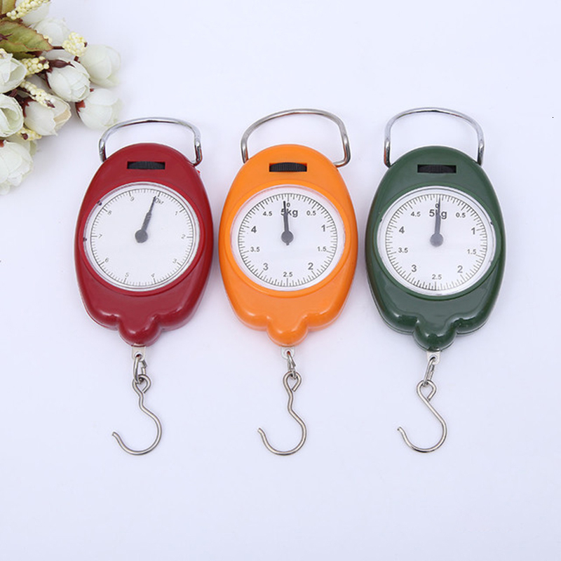1pcs 5kg Hanging Scale Portable Mini Hanging Fishing Hook Pocket Scales Creative Weight Scale The Balance Kitchen Scales