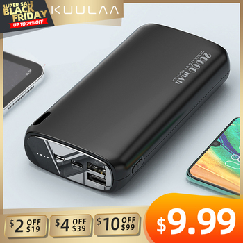 KUULAA Power Bank 20000mAh Portable Charging Poverbank Mobile Phone External Battery Charger Powerbank 20000 mAh for Xiaomi Mi 20000mah power bank for xiaomi iphone portable powerbank 20000 mah mirror screen usb charger mobile external battery pack