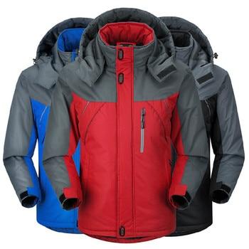Waterproof and windproof soft shell jacket men's hooded winter warm fleece flying jacket jacket winter outdoor women's jacket
