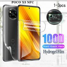 Гидрогелевая пленка для XIAOMI POCO X3 NFC, Защита экрана для xiaomi pocophone x3 x 3, задняя пленка pocox3, Защитная пленка для камеры, телефона