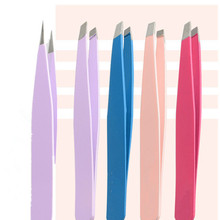 1pcs Eyebrow Tweezers Stainless Steel Face Hair Removal Eye Brow Trimmer Eyelash Clip Cosmetic Beauty Makeup Tool