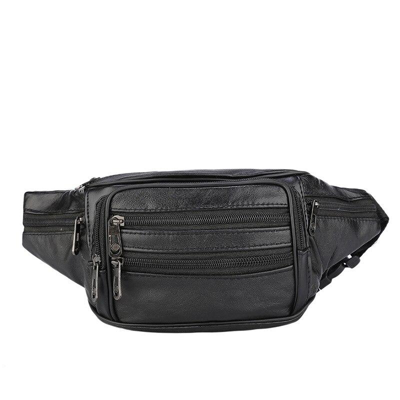 2020 Outdoor Waist Pack Bodypack Sports Chest Bag Waterproof PU Casual Running Hip Bag Waist Zipper Pouch Anti-theft Packs