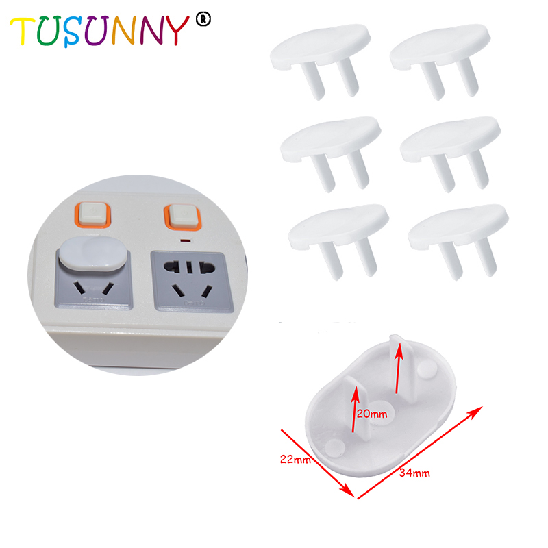 TUSUNNY 6 Pcs/lot American Standard Chirldren Protection Product Power Socket Outlet Plug Protective Cover