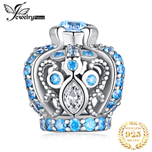 JewelryPalace Vintage Crown 925 Sterling Silver Beads Charms Original Fit Bracelet original Jewelry Making