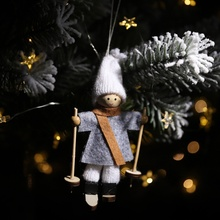 Cute Non-woven Ski Snowman Doll Christmas Hanging Ornaments New Year Decoration