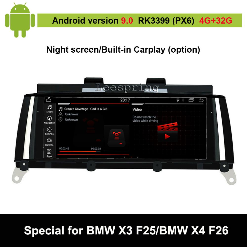 Android 9.0 Car Multimedia Player for BMW X3 F25/ for BMW X4 F26 (2011-2016 Original CIC or NBT System) Auto GPS Navigation
