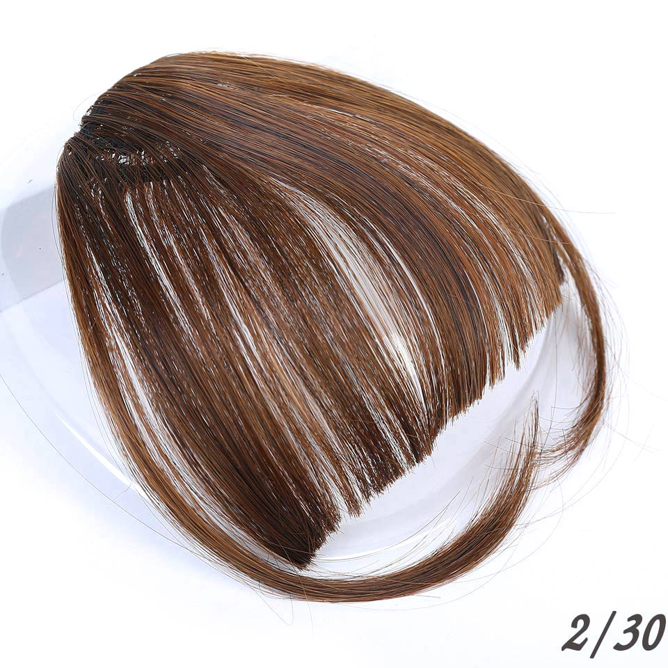 Манвэй, накладные волосы на заколках, накладные волосы с бахромой для женщин, заколки для волос с челкой, синтетические воздушные челки - Цвет: NC/4HL