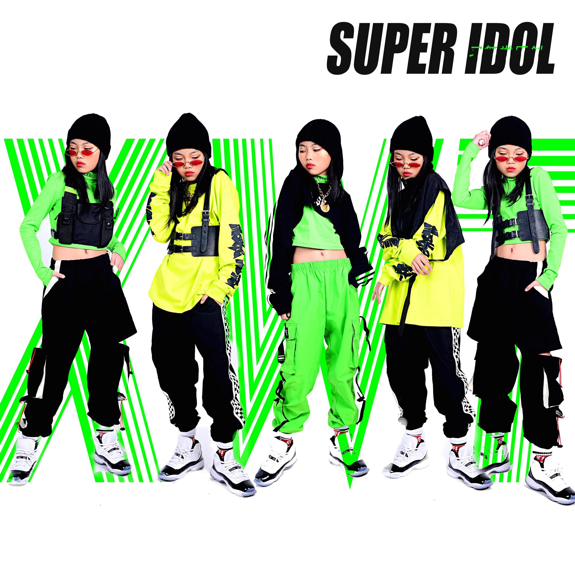 Black Fluorescent Series Children'S Hip-Hop Dance Costumes For Kids Performance Clothing Boys Girls Jazz Dance Clothes DQS3713