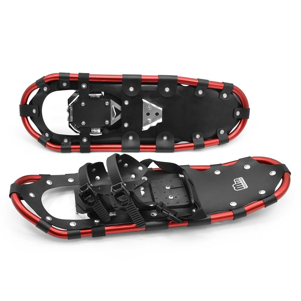 Outdoor Snowshoes Aluminum Adjustable Bindings Ski Carrying Tote Bag Practical Durable For Women Men 25 /27 /29 Inch 3 Colors