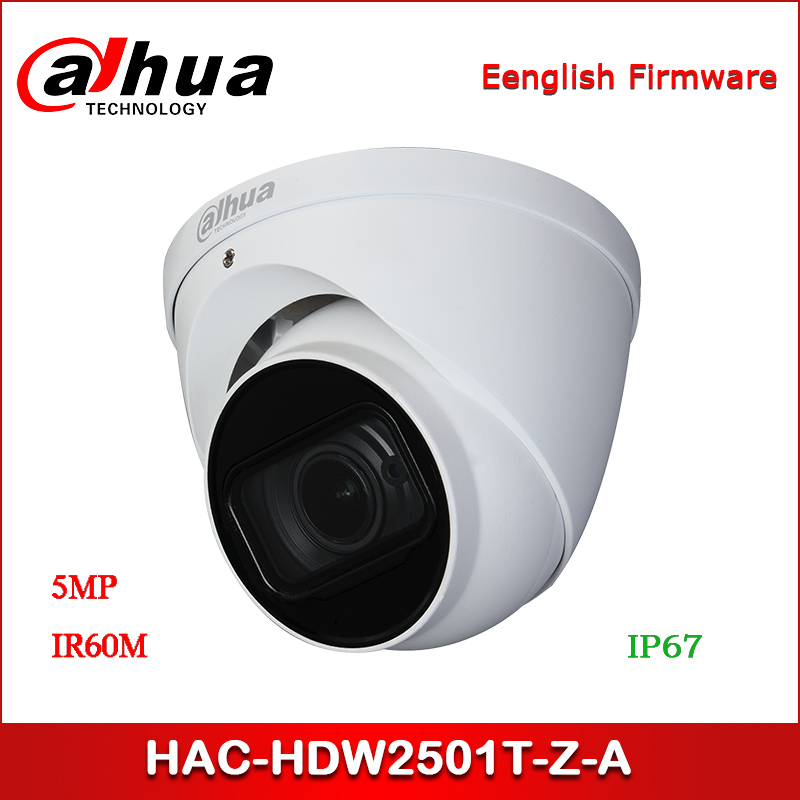 Dahua HAC-HDW2501T-Z-A 5MP CCTV Camera Starlight HDCVI IR Eyeball Camera