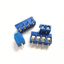 5/10 Pcs/20pcs lot KF301-5.0-2P KF301-3P KF301-4P Pitch 5.0mm Straight Pin 2P 3P 4P Screw PCB Terminal Block Connector