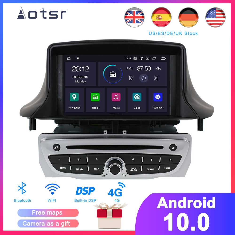<font><b>Android</b></font> 10.0 DSP Car DVD Player for Renault <font><b>Megane</b></font> <font><b>3</b></font>/Renault Fluence 2009+ stereo headunit GPS navigation radio tape recorder image
