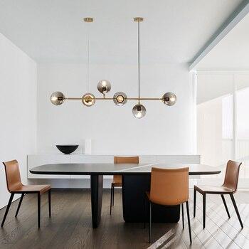 Пост-современная люстра для гостиной лампа креативный минималистичный индивидуальный стиль молекула кровать столовая wy121103