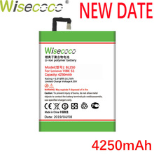 WISECOCO 4250mAh BL250 Battery For Lenovo VIBE S1 S1c50 S1a40 CellPhone In Stock Latest Production New Battery+Tracking Number
