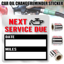 Spot Oil Change Service Reminder Sticker Clear Window Lite Stock 100pcs/Roll Stickers Car Styling