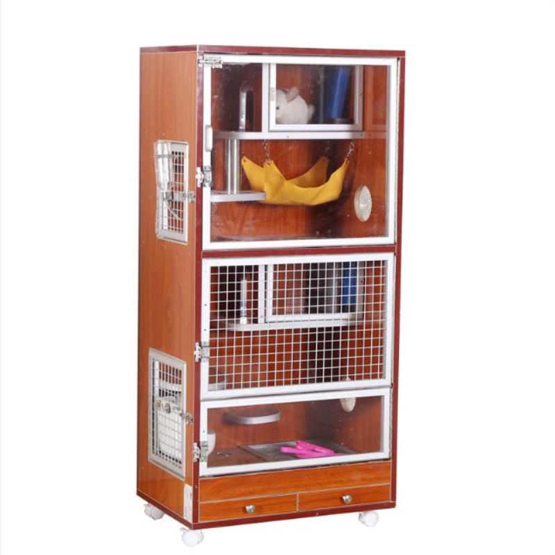 Dragon cat cabinet cage solid fir wood eco-plate villa pet air conditioning