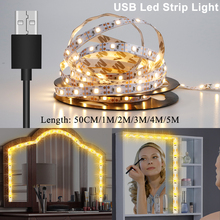 LED Light Strip 5V USB Cable 0.5M 1M 2M 3M 4M 5M SMD 2835 TV Background Home Living Room Lighting Led Lamp US/EU Plug 220V