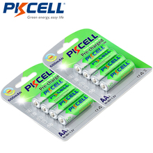 8 adet/2 kart PKCELL AA Ni MH ön şarjlı piller 600mAh 1.2V AA NiMh LSD şarj edilebilir pil uzaktan kumanda için