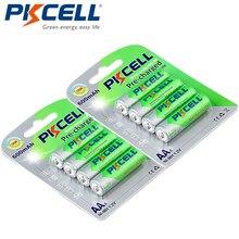 8 pces/2 cartões pkcell aa ni mh baterias pré carregadas 600 mah 1.2 v aa nimh lsd bateria recarregável para controle remoto