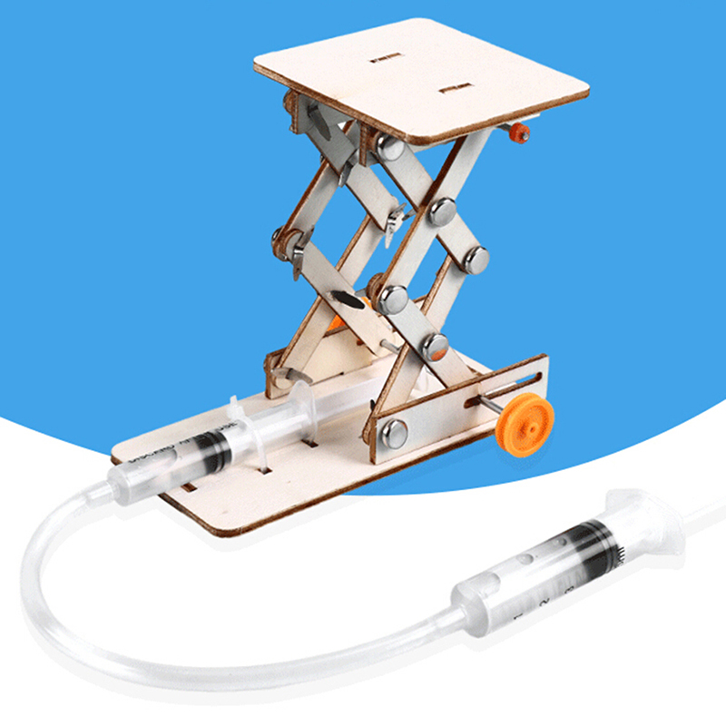 1 X Kids DIY Science Toys Educational Scientific Experiment Kit Hydraulic Lift Table Model