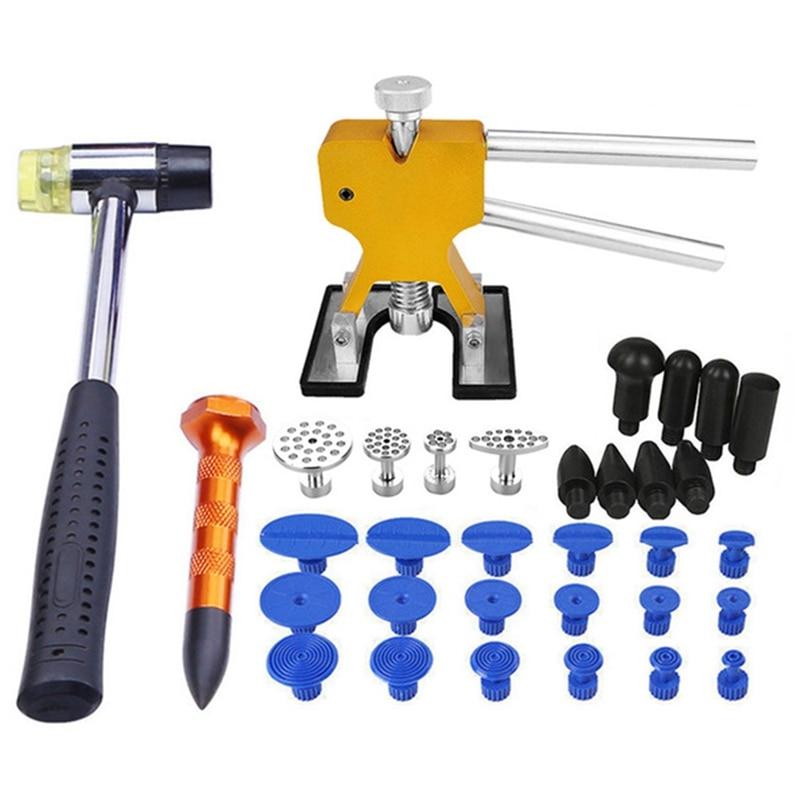 Herramientas de eliminación de abolladuras sin pintura Extractor de abolladuras sin pintura Auto pegamento para reparar herramientas pestañas herramientas de reparación de granizo