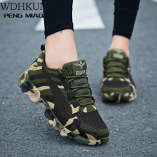 WDHKUN Camouflage Fashion Sneakers Women Fly Knit Breathable Casual